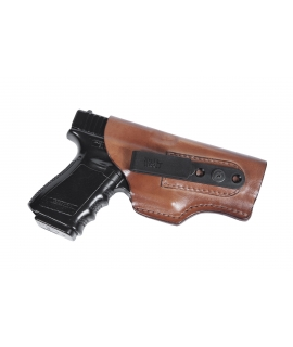 FL33.Tuckable clip holster, leather. Front Line