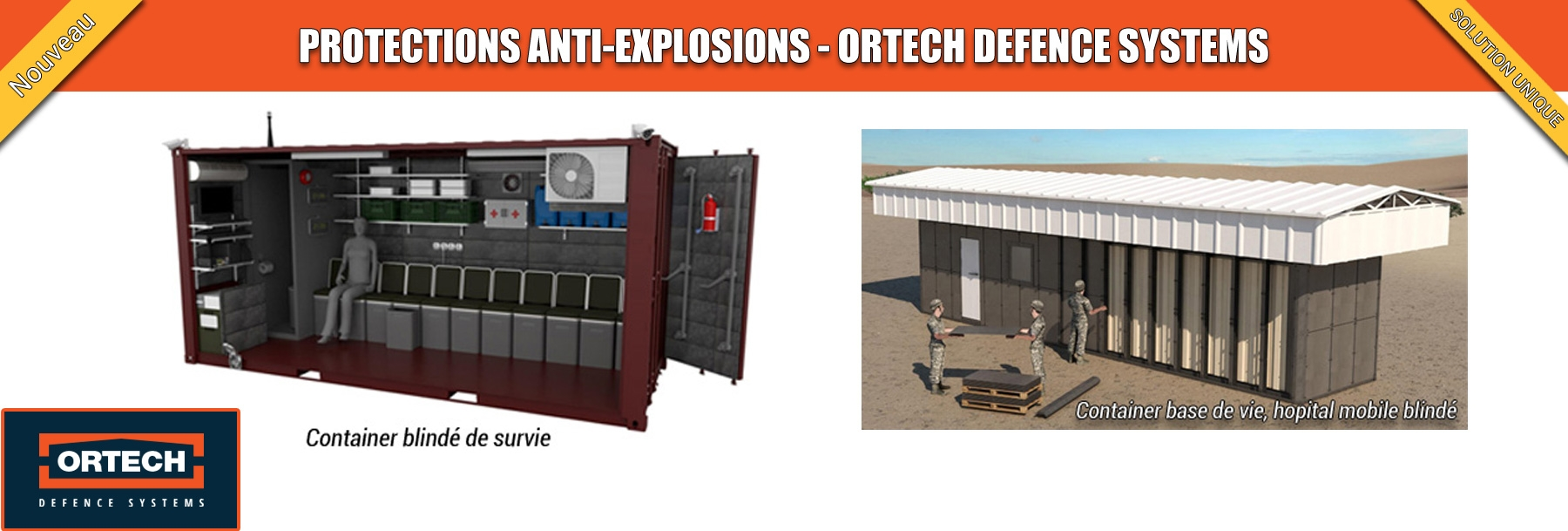 Ortech Defence Systems: protection anti-explosion